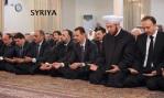Syrian President Bashar al-Assad  performed Eid al-Adha Prayers